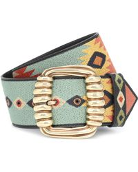Etro - Embroidered Leather Belt - Lyst