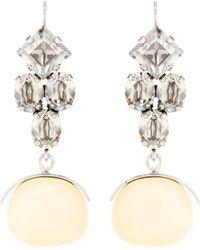 Isabel Marant - Crystal Wooden Drop Earrings - Lyst