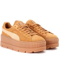 134515cc92a Puma 40mm Cleated Creeper Suede Sneakers in Green - Lyst
