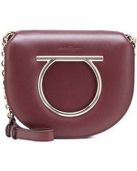 Ferragamo - Vela Medium Leather Shoulder Bag - Lyst