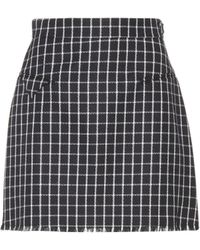 Thom Browne - Checked Wool Skirt - Lyst