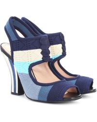 Fendi - Knitted Sandals - Lyst