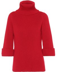 RED Valentino - Virgin Wool Turtleneck Sweater - Lyst