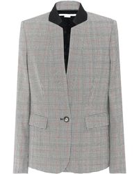 Stella McCartney - Checked Wool Jacket - Lyst