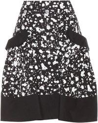 Carolina Herrera - Printed Cotton Skirt - Lyst