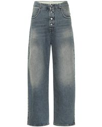 MM6 by Maison Martin Margiela - High-rise Wide-leg Jeans - Lyst