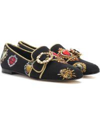 Dolce & Gabbana - Embellished Ballerinas - Lyst