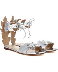 Francesco Russo | Metallic Leather Sandals | Lyst