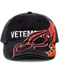 Vetements - Printed Logo Fire Hat - Lyst
