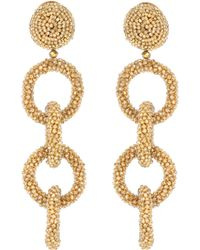 Oscar de la Renta - Crystal-embellished Earrings - Lyst