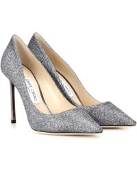 Jimmy Choo Romy 100 Glitter Court Shoes