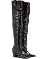 Ganni | Nadine Over-the-knee Leather Boots | Lyst