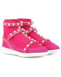 Valentino - Garavani Free Rockstud High-top Sneakers - Lyst