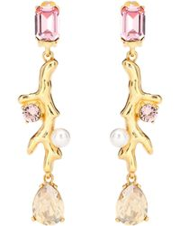 Oscar de la Renta - Crystal Embellished Earrings - Lyst