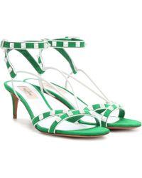 Valentino - Free Rockstud Leather Sandals - Lyst