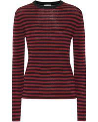 Saint Laurent - Striped Cotton Shirt - Lyst