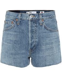 RE/DONE - Denim Shorts - Lyst