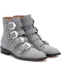 Givenchy - Boots Be08143 Suede Grey Studs - Lyst