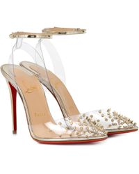 Christian Louboutin - Spikoo 100 Pvc Court Shoes - Lyst