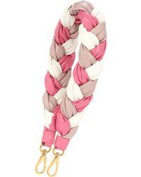 Miu Miu - Braided Leather Shoulder Strap - Lyst
