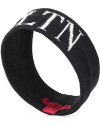 Valentino - Vltn Knit Logo Headband - Lyst
