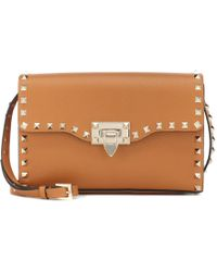 Valentino - Rockstud Small Leather Shoulder Bag - Lyst
