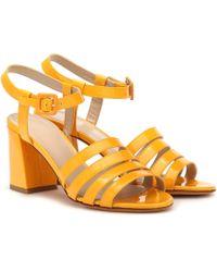 Maryam Nassir Zadeh Palma High Patent Leather Sandals - Yellow