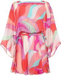 Emilio Pucci - Printed Silk Minidress - Lyst