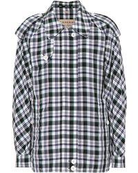 Burberry - Checked Harrington Jacket - Lyst