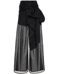 Alexandre Vauthier - Embellished Cotton Trousers - Lyst