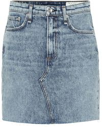 Rag & Bone - Minifalda Hayden de jeans - Lyst
