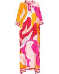 Emilio Pucci - Printed Silk Dress - Lyst