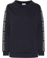 Moncler - Logo Printed Cotton Sweatshirt - Lyst