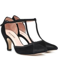 Repetto - Baya Suede T-bar Pumps - Lyst