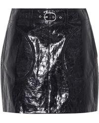 Rag & Bone - Minifalda de piel con cinturón - Lyst