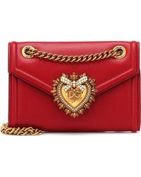 4cb9ac4cfc90 Dolce   Gabbana - Mini Devotion Leather Shoulder Bag - Lyst