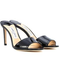 87e39602cd4b68 Jimmy Choo - Stacey 85 Patent Leather Sandals - Lyst