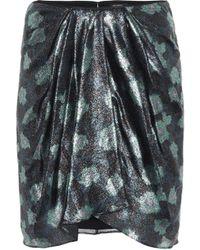 Isabel Marant - Paris Printed Silk-blend Miniskirt - Lyst