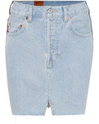 Vetements - X Levi's® Denim Miniskirt - Lyst