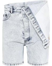 Y. Project - Folded Denim Shorts - Lyst