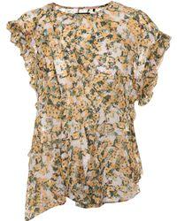 Isabel Marant - Fliren Floral-printed Top - Lyst