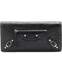 Balenciaga - Classic Continental Leather Wallet - Lyst