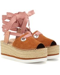 See By Chloé - Suede Platform Sandals - Lyst