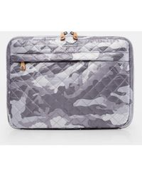 MZ Wallace - Quilted Light Grey Camo Metro Organizer - Lyst