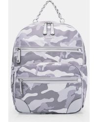 MZ Wallace Light Grey Camo Tribeca Backpack