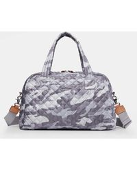 MZ Wallace - Quilted Light Grey Camo Jimmy Travel - Lyst