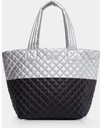 MZ Wallace - Quilted Tin/black Medium Metro Tote - Lyst