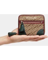 MZ Wallace - Ivy Logo Jacquard Tribeca Small Wallet - Lyst