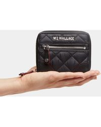 MZ Wallace - Black With Silver Hardware Crosby Mini Wallet - Lyst