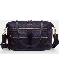 MZ Wallace - Quilted Boysenberry Crosby Traveler - Lyst